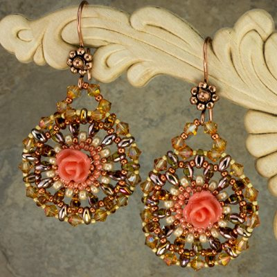 Peachy-Keen Roses Earrings