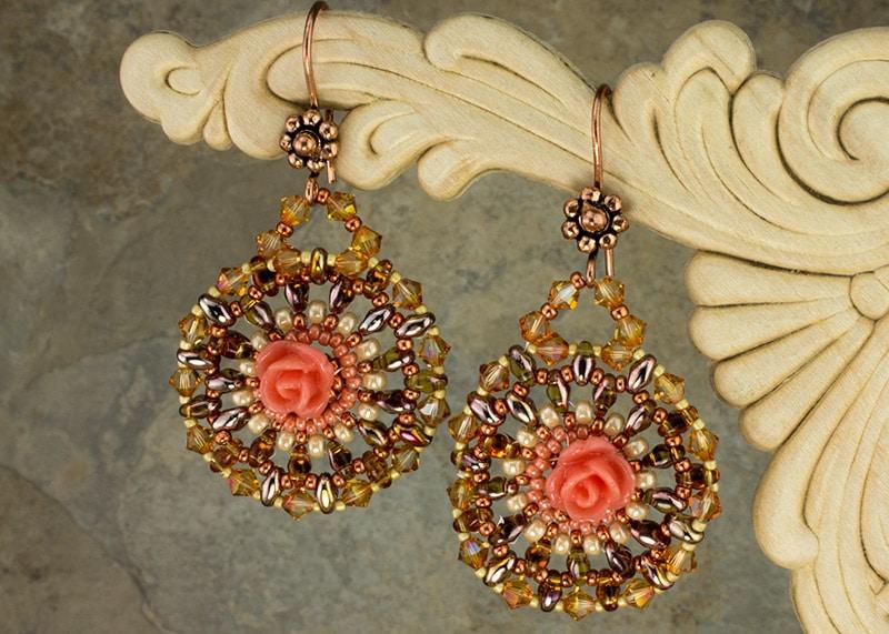 Peachy-Keen Roses Earrings