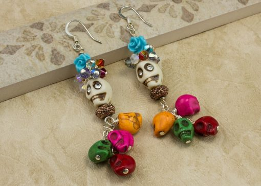 Cavalcade of Skulls earrings