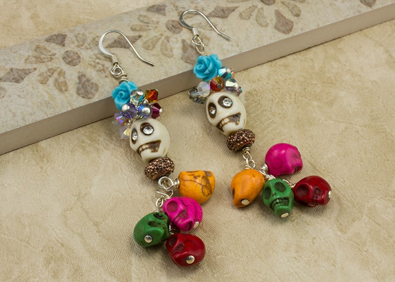 Cavalcade of Skulls earrings
