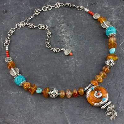 Amber Amulet Necklace