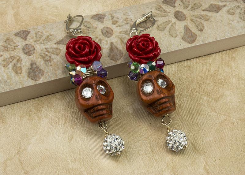Fanciful Skulls Earrings