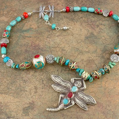 Namaste Dragonfly Necklace