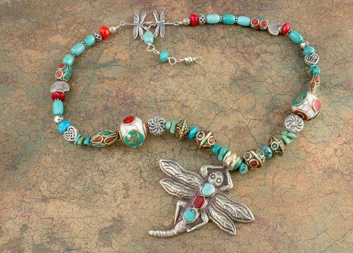Namaste Dragonfly Necklace