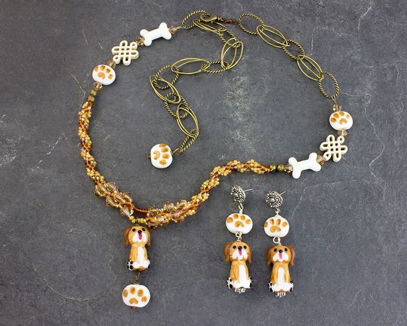 Diggity Dog Necklace Woof-Woof Earrings