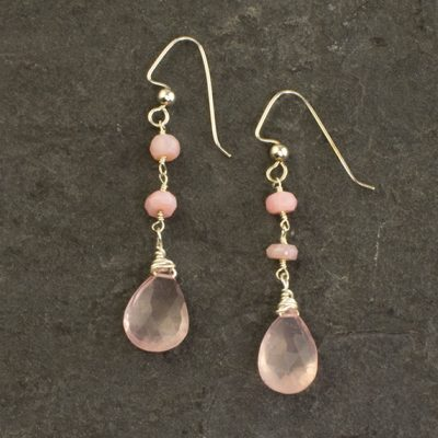 Rose Quartz Fest Earrings