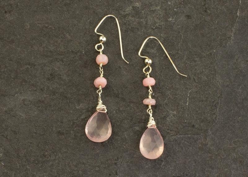 Rose Quartz Fest Earrings