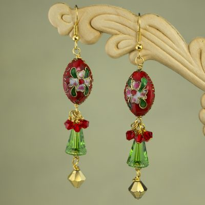 Floral Holiday Earrings