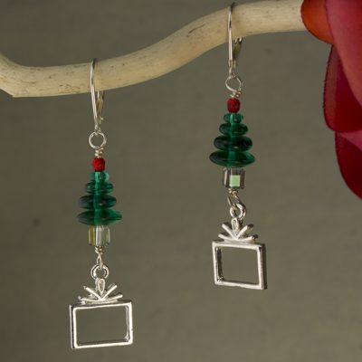 Presents Under The Tree Earrings