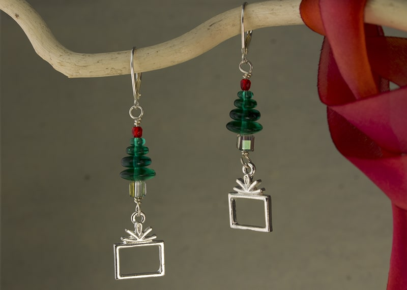 Presents Under The Tree Earrings