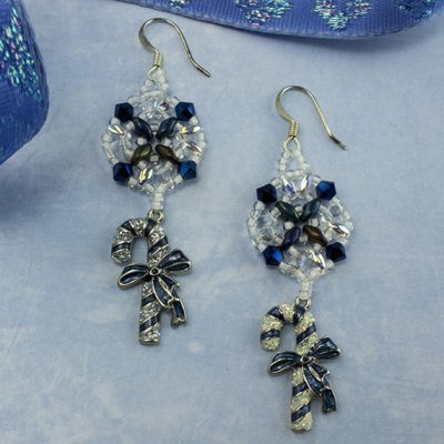 Not A Blue Xmas earrings