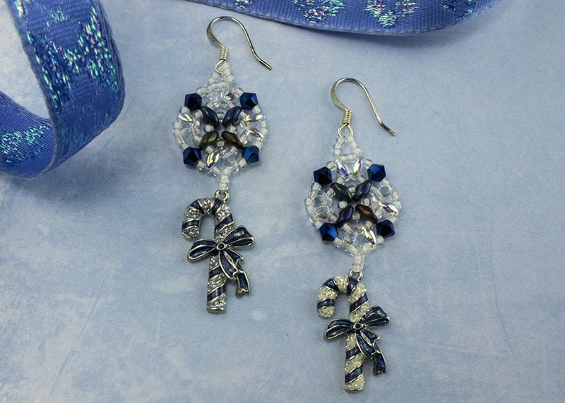 Not A Blue Xmas earrings