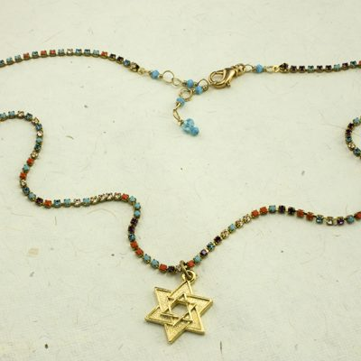 Sparkling Star of David Necklace