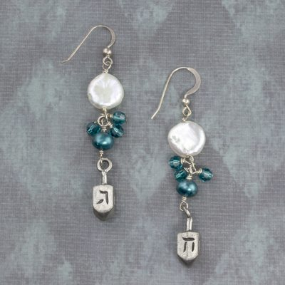 Elegant Dreidel earrings