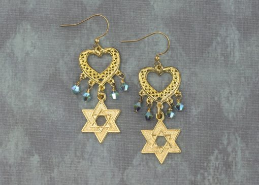 Gold Stars Earrings
